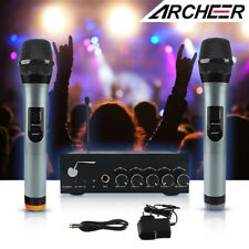 ARCHEER VHF Bluetooth Wireless Microphone System + Dual Channel Handheld Mic