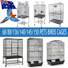 Pets Bird Cage Parrot Aviary Pet Stand-alone Budgie Perch Castor Wheels Lager