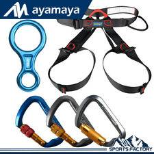 Outdoor Rock Climbing Auto/Screw Locking Carabiner Safety Belt Rappelling Tools