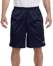 New Champion Mens Long Mesh Pocket Shorts In Big Sizes