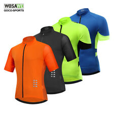 Mens Cycling Plaid T-shirt Short Sleeve Bike Bicycle MTB Jersey Checked Shirts