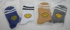 Korean Style Cotton Emoji Smile Face Casual Sports Socks Adult One Size Ankle Y