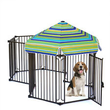 "48"" 60"" Pet Run Dog Fence Play Exercise Pen Metal Frame Puppy Rabbit Run Cage"