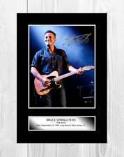 Bruce Springsteen A4 signed mounted photograph picture poster. Choice of frame.
