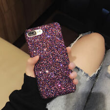 New Bling Sparkle Glitter Hard Back Cover Skin Case For Apple iPhone 7 X 8 Plus