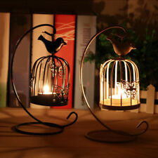 AL_ Birdcage Style Hanging Candle Holder Stand Vintage Lantern Wedding Decor Uti
