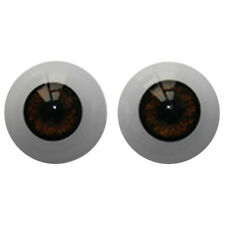 22mm Reborn Baby Dolls Eyes Half Round Acrylic Eyes Brown for BJD OOAK Doll