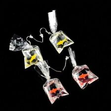 Ear Pendant Goldfish Water Bag Shaped Earrings Dangle Earrings Resin Eardrop
