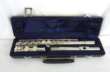 BOOSEY AND HAWKES  B&H 400 SILVER-PLATED FLUTE WITH CASE                    #WO#