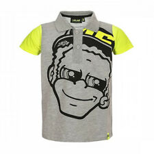 Valentino Rossi VR46 Moto GP The Doctor Kids Grey Polo Shirt Official 2018