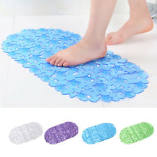 Bathroom Non-slip Silicone Pad Foot massage Carpet Cobblestone Transparent Mat