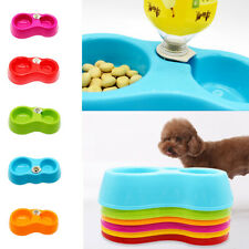 Pet Dog Cat Automatic Food Feeding Dish Bowl Water Bottle Dispenser Feeder Food