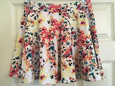 SO, Juniors, Cotton Blend, Floral Print, A-Line Skirt, Size L