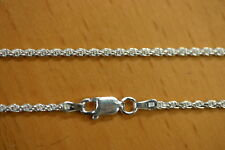1.7mm Solid .925 Sterling Silver Diamond Cut Rope Chain Necklace Made in Italy