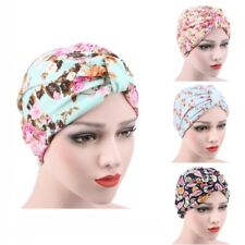 Indian Style Women's Flower Stretch Turban Hat Chemo Hair Loss Head Wrap Cap H