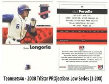 2008 Tristar Projections Low Series (1-200) Baseball Set ** Pick Your Team **