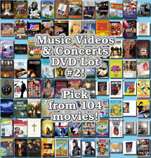 Music Videos & Concerts DVD Lot #2: DISC ONLY - Pick Items to Bundle and Save!