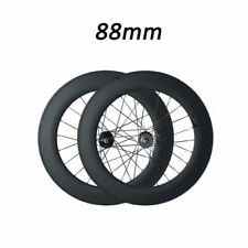 700C 88mm Depth Tubular New Track Fixed Carbon Road Bike Bicycle Racing Wheelset