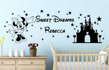 Minnie Mouse Wall Decal with Custom Name / Disney Wall Decal Custom Name / Decal
