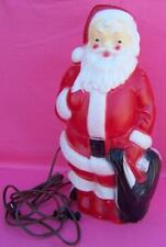 """Santa Claus Blow Mold 1968 Empire Plastic Corp Lighted   13"""" Vintage Christmas"""
