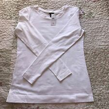 New Ann Taylor Womens Boat Neck Pullover Cotton Tee Shirt Blouse Top - NWT