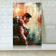 HD Print Oil Painting Home Decor Art on Canvas Iron Man Multiple Size Options