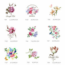Flower Patches T-shirt Heat Transfer Sticker Washable Clothes Iron On Appliques