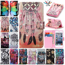 For iPod Touch 5th/6th Gen Luxury Diamond Magnet Wallet Leather Stand Case Cover