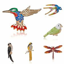 New Bird Brooch Pin Crystal Animal Dragonfly Brooch Pin Women Jewelry