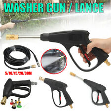 """High Pressure 5800PSI Washer Hose Water Gun 3/8"""" 1/4"""" FPT Quick Connect Coupler"""