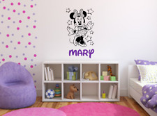 Minnie Mouse Wall Decal / Minnie Mouse Name Decal / Disney Wall Decal / USA