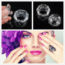 Cosmetic Crystal Cup Dappen Dish Acrylic Nail Art For Liquid Powder Container