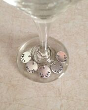 Personalized Wine Charms, Names, Date, Words