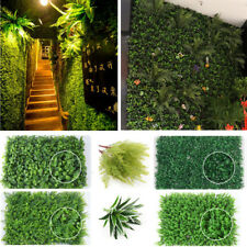 40*60cm Artificial Ivy Leaf Hedge Mat Fence Fake Plant Grass Wall Outdoor Panels