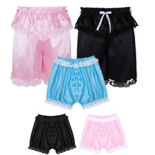 Sissy panties lace satin pouch gay mens underwear male thong short thong ladyboy