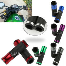 "New 7/8"" CNC Hand Grips Rubber Gel For 22mm Handlebar Sports Bike Motorcycle"