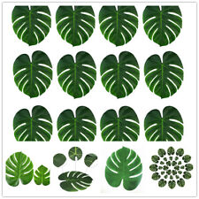 12pcs Artificial Palm Tropical Leaves Hawaiian Beach Home Party Table Decoration