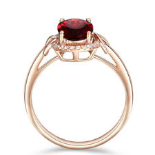 Fashion Rose Gold Plated Ring  Women Wedding Jewelry Gift Size 7-10 US