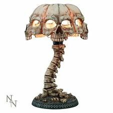 Atrocity Table Lamp 37.5cm High Gothic Skull Desk Light Nemesis Now REBOXED