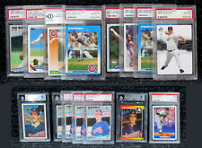 Greg Maddux & John Smoltz / PSA Graded Cards / Hall of Famers / w Rookie Cards