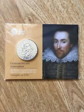 2016 UK £50 William Shakespeare uncirculated silver coin. Sealed Royal Mint