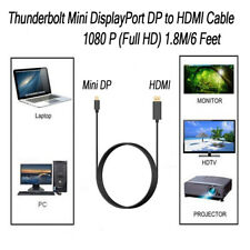 1080P 1.8m Mini Displayport DP to HDMI Male AV Adapter Cable for LCD HDTV PC US