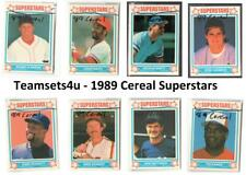 1989 Cereal Superstars Baseball Set ** Pick Your Team **