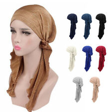 Muslim Women Hijab Cancer Hat Chemo Cap Hair Loss Head Scarf Turban Wrap