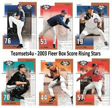 2003 Fleer Box Score Rising Stars Baseball Set ** Pick Your Team **