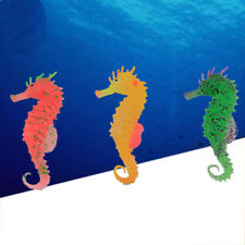 Glowing Faux Artificial Small Sea Horse Aquarium Fish Tank Decorating Ornament