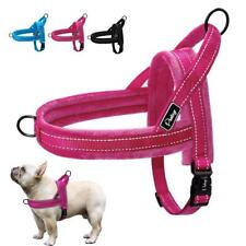 Nylon Reflective Pet Dog Harnesses Vest Soft Padded No Pull Harness For Walking