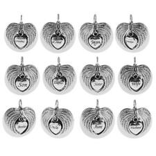 MagiDeal Cremation Urn for Ashes Memorial Pendant Stainless Steel Angel Wings