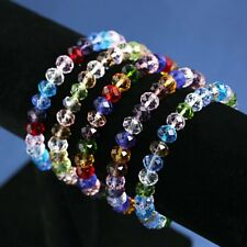 Charm Elastic Stretch Beaded Bracelet Natural Crystal Bangle Women Girl Jewelry