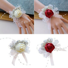 MagiDeal Wrist Corsage Bridal Bridesmaid Bracelet Wedding Prom Rose Hand Flower